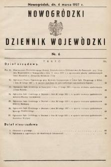 Nowogródzki Dziennik Wojewódzki. 1937, nr6