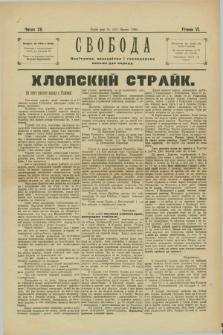 Svoboda : polïtične, pros'vitne i gospodarske pis'mo dlâ narodu. R.6, Č. 29 (31 lipnâ 1902)