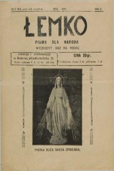 Łemko : pismo dla naroda. R.2, nr 2 (maj 1929)
