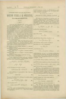 Przegląd Techniczny : czasopismo miesięczne poświęcone sprawom techniki i przemysłu. [R.13], T.24, [z. 5] (maj 1887)