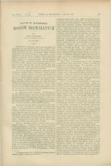 Przegląd Techniczny : czasopismo miesięczne poświęcone sprawom techniki i przemysłu. [R.13], T.24, [z. 6] (czerwiec 1887)