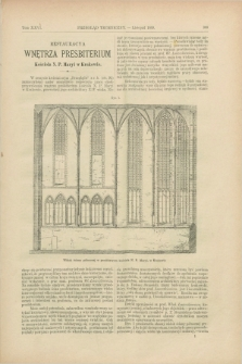 Przegląd Techniczny : czasopismo miesięczne poświęcone sprawom techniki i przemysłu. [R.15], T.26, [z. 11] (listopad 1889)