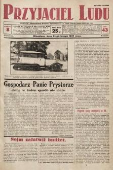 Przyjaciel Ludu. 1931, nr8