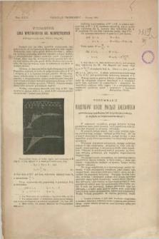 Przegląd Techniczny : czasopismo miesięczne poświęcone sprawom techniki i przemysłu. [R.18], T.29, z. 1 (styczeń 1892)