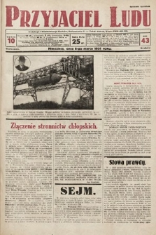 Przyjaciel Ludu. 1931, nr10