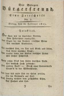 Der Brieger Bürgerfreund : eine Zeitschrift. [Jg.9], No. 9 (28 Februar 1817) + dod.