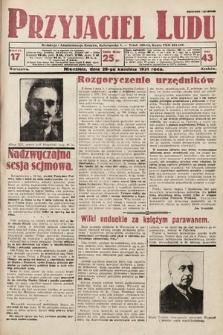 Przyjaciel Ludu. 1931, nr17