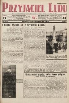 Przyjaciel Ludu. 1931, nr27