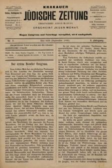 Krakauer Jüdische Zeitung. 1899, nr7