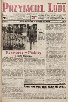 Przyjaciel Ludu. 1931, nr33