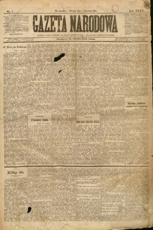 Gazeta Narodowa. 1895, nr1