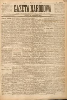 Gazeta Narodowa. 1895, nr11