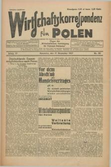 """Wirtschaftskorrespondenz für Polen : organ der """"Wirtschaftlischen Vereinigung für Polnisch-Schlesien"""". Jg.4, Nr. 101 (17 Dezember 1927) + dod."""