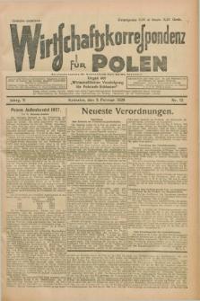 """Wirtschaftskorrespondenz für Polen : organ der """"Wirtschaftlischen Vereinigung für Polnisch-Schlesien"""". Jg.5, Nr. 12 (8 Februar 1928)"""