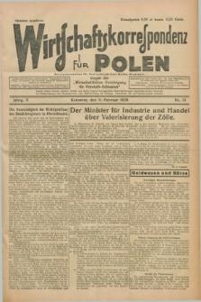 """Wirtschaftskorrespondenz für Polen : organ der """"Wirtschaftlischen Vereinigung für Polnisch-Schlesien"""". Jg.5, Nr. 13 (11 Februar 1928)"""