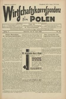 """Wirtschaftskorrespondenz für Polen : Organ der """"Wirtschaftlischen Vereinigung für Polnisch-Schlesien"""". Jg.5, Nr. 30 (14 April 1928)"""
