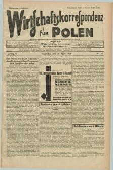 """Wirtschaftskorrespondenz für Polen : Organ der """"Wirtschaftlischen Vereinigung für Polnisch-Schlesien"""". Jg.5, Nr. 31 (21 April 1928)"""
