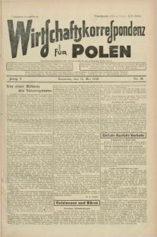 Wirtschaftskorrespondenz für Polen. Jg.5, Nr. 38 (12 Mai 1928)