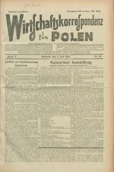 Wirtschaftskorrespondenz für Polen. Jg.5, Nr. 43 (2 Juni 1928)
