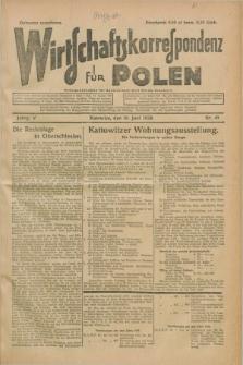 Wirtschaftskorrespondenz für Polen. Jg.5, Nr. 45 (16 Juni 1928)