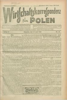 Wirtschaftskorrespondenz für Polen. Jg.5, Nr. 46 (23 Juni 1928)