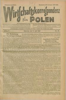 Wirtschaftskorrespondenz für Polen. Jg.5, Nr. 49 (14 Juli 1928)