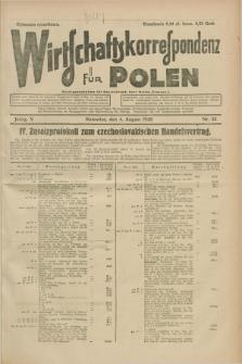 Wirtschaftskorrespondenz für Polen. Jg.5, Nr. 52 (4 August 1928)