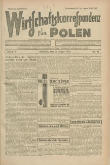 Wirtschaftskorrespondenz für Polen. Jg.5, Nr. 54 (18 August 1928)