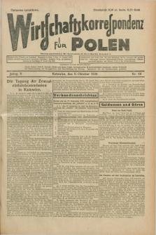 Wirtschaftskorrespondenz für Polen. Jg.5, Nr. 66 (9 Oktober 1928)