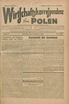 Wirtschaftskorrespondenz für Polen. Jg.5, Nr. 67/68 (13 Oktober 1928) + dod.