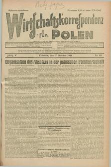 Wirtschaftskorrespondenz für Polen. Jg.5, Nr. 69 (17 Oktober 1928)