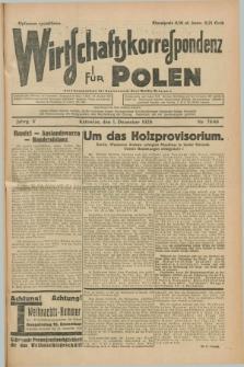 Wirtschaftskorrespondenz für Polen. Jg.5, Nr. 79/80 (1 Dezember 1928) + dod.