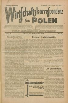 Wirtschaftskorrespondenz für Polen. Jg.5, Nr. 85 (22 Dezember 1928)