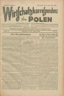 Wirtschaftskorrespondenz für Polen. Jg.6, Nr. 5 (26 Januar 1929)
