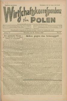 Wirtschaftskorrespondenz für Polen. Jg.6, Nr. 9 (16 Februar 1929) + dod.