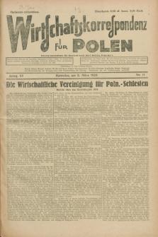 Wirtschaftskorrespondenz für Polen. Jg.6, Nr. 11 (2 März 1929)