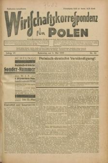 Wirtschaftskorrespondenz für Polen. Jg.6, Nr. 22 (4. Mai 1929)