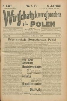 """Wirtschaftskorrespondenz für Polen : organ der """"Wirtschaftlischen Vereinigung für Polnisch-Schlesien"""". Jg.6, Nr. 52 (16 November 1929) + dod."""