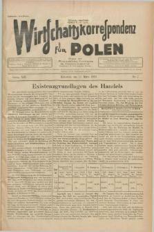 """Wirtschaftskorrespondenz für Polen : Organ der """"Wirtschaftlischen Vereinigung für Polnisch-Schlesien"""". Jg.13, Nr. 7 (15 März 1936)"""