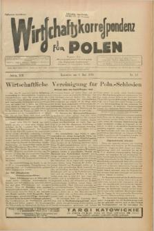 """Wirtschaftskorrespondenz für Polen : Organ der """"Wirtschaftlischen Vereinigung für Polnisch-Schlesien"""". Jg.13, Nr. 12 (6 Mai 1936)"""