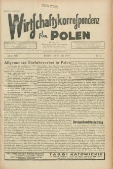 """Wirtschaftskorrespondenz für Polen : Organ der """"Wirtschaftlischen Vereinigung für Polnisch-Schlesien"""". Jg.13, Nr. 13 (16 Mai 1936)"""