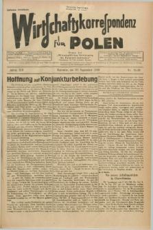 """Wirtschaftskorrespondenz für Polen : Organ der """"Wirtschaftlischen Vereinigung für Polnisch-Schlesien"""". Jg.13, Nr. 25/26 (30 September 1936) + dod."""