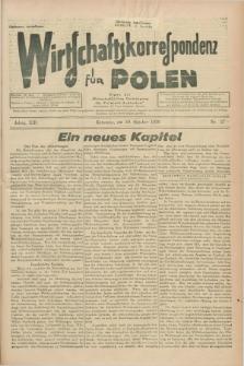 """Wirtschaftskorrespondenz für Polen : Organ der """"Wirtschaftlischen Vereinigung für Polnisch-Schlesien"""". Jg.13, Nr. 27 (10 Oktober 1936)"""