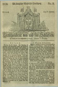 Correspondent von und fuer Schlesien. 1830, No. 8 (27 Januar) + dod.