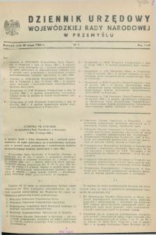 Dziennik Urzędowy Wojewódzkiej Rady Narodowej w Przemyślu. 1984, nr 1 (28 lutego)
