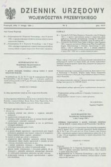 Dziennik Urzędowy Województwa Przemyskiego. 1994, nr 3 (11 lutego)