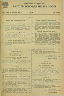 Dziennik Urzędowy Rady Narodowej M. Łodzi. 1976, nr 4 (10 kwietnia)