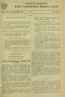 Dziennik Urzędowy Rady Narodowej M. Łodzi. 1976, nr 7 (30 października)