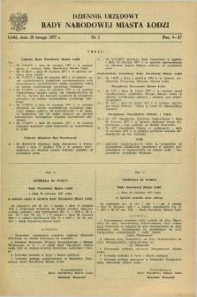 Dziennik Urzędowy Rady Narodowej M. Łodzi. 1977, nr 2 (28 lutego)