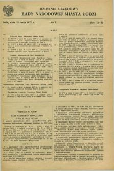 Dziennik Urzędowy Rady Narodowej M. Łodzi. 1977, nr 3 (25 maja)